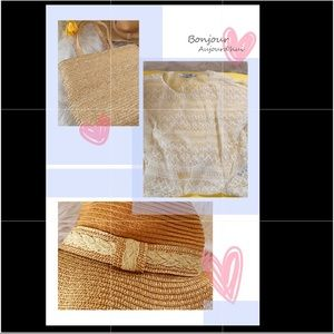 unbranded Bags - Straw beach tote and hat combo/bundle ☀️☀️☀️